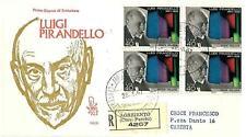 ITALIA REP. - 1967 - Centenario della nascita di Luigi Pirandello su FDC Venetia