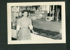 Pretty Girl at Ice Cream Soda Shop Vintage 1950s Photo African American 470087