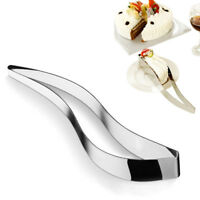 Stainless Steel Cake Slicer Cutter Sheet Guider Wedding Party Cake Server um