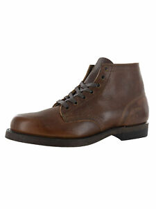 $378 Frye Mens Prison Boot Lace Up Boot Shoes, Whiskey, US 8.5