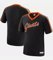 Mitchell & Ness San Francisco Giants V-Neck Overtime Win VINTAGE T-SHIRT XL