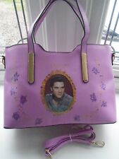 NEW GORGEOUS LAVENDER ELVIS PRESLEY  PICTURE HAND/SHOULDER BAG