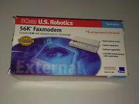 U.S. Robotics 56k V.90 External Serial Data Fax Modem USR5686 - 5686, used