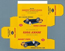 DINKY TOYS 234 : FERRARI RACING CAR box repro boite reprobox refabrication copie