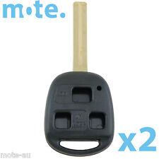2 x Lexus Remote Car 40mm Key 3 Button Shell/Case/Enclosure IS200 GS300 RX300 LS