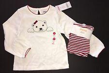 NWT Gymboree Penguin Chalet 3T Polar Bear Tee & Sweet Treats Red Stripe Leggings