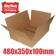 10 x Moving Boxes 480x350x100mm Cardboard Brown Box Carton Removalist Shipping