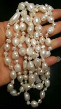 46 INCH STRING OF FRESHWATER BAROQUE PEARLS/NECKLACE