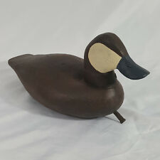 Carved Wood Duck Decoy RUDDY DUCK DRAKE Virginia Style Signed by Artist