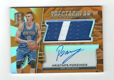 2015-16 Panini Spectra Kristaps Porzingis Orange Spectacular Patch Auto RC 22/25