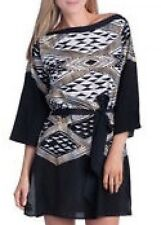 GOTTEX Exclusive, 100% Silk Kaftan Tunic Cover-Up, Sz S