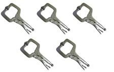 "5 PACK 11"" Locking C Clamp Adjustable Pliers Grip w/ Swivel Pad Vise Jaws NEW"