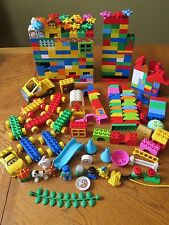 LEGO Duplo Lot of 500 Pieces Blocks People Animals Trains Specialty Pieces etc