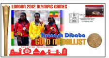 TURENESH DIBABA 2012 OLYMPIC ETHIOPIA GOLD MEDAL COVER