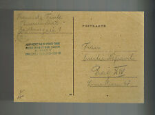 1944 Germany Theresienstadt Concentration Camp Postcard Cover to Prague F Fuils