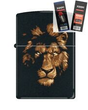 Zippo 218 Lion in the Night Lighter with *FLINT & WICK GIFT SET*