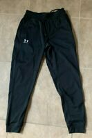 Under Armour Cold Gear Black Jogger Sweatpants Elastic Waist Men's XS NEW