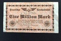 1 Geldschein Reichsbahn 1 Million Mark 1923