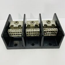 Taylor Electric Pn 68153 3 Pole Power Distribution Block 14 4awg 6 350mcm