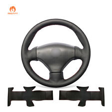 Black PU Leather Steering Wheel Cover for Peugeot 206 1998-2005 206 CC 206 SW