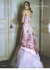 "PUBLICITE ADVERTISING 2006  PRONUPTIA robe de mariée ""septième art""       210712"