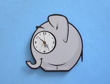 Little cute Elephant Cartoon Wall Clock