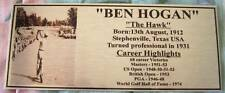 Golf Ben Hogan Gold or Silver Plaque free post*****