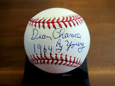 DEAN CHANCE 1964 CY YOUNG CALIFORNIA ANGELS SIGNED AUTO OML BASEBALL JSA