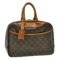 LOUIS VUITTON Monogram Deauville Hand Bag M47270 LV Auth oh066