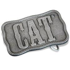 Caterpillar CAT Western Style Pewter Belt Buckle