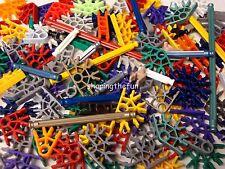 100 KNEX RODS & CONNECTORS Random Mixed K'nex Replacement Parts / Pieces Lot