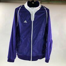 ADIDAS Womens SAMPLE Purple/White Climalite Full Zip Track Athletic Jacket Sz M