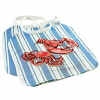 Norpro Adjustable Crab / Lobster Seafood Bibs 2 pk  - Washable / Reusable Cotton