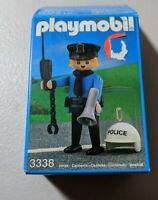PLAYMOBIL 3338 POLICE OFFICER Figure Set Helmet Vintage NOS NEW 1991 HTF