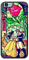 Beauty and the Beast Stained Phone Case for iPhone X 8 PLUS Samsung Google etc