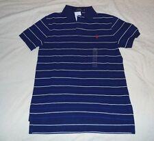 NWT Men's Polo Ralph Lauren Navy / Blue White Stripe Shirt Size S / P Custom Fit