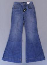 Express Women's High Waisted Light Wash Bell Flare Jeans HD3 Blue Short Size 0S