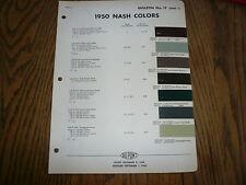 1950 Nash DuPont Dulux Color Chip Paint Sample - Vintage