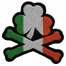 Cross Bones and Irish clover Flag BIKER MC PATCH