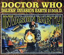 DOCTOR WHO POSTER PAGE . 1966 DALEKS INVASION EARTH 2150AD FILM MOVIE . D99A