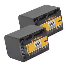 2x Batteria Patona 1500mah per Sony FDR-AX100,FDR-AX100E,FDR-AX30,FDR-AX33