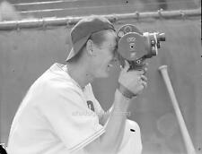 Photo. 1930s Baseball.  Ted Williams Filming Movie