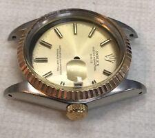 Rolex 1500 Series Oyster Perpetual Date 18k SS Case Dial Hands & Bezel
