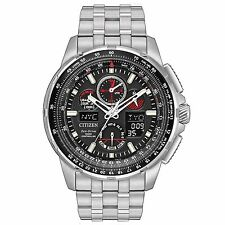 Citizen Skyhawk A-T Chronograph Perpetual Stainless Steel Mens Watch JY8050-51E