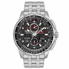 Citizen Skyhawk A-T Chronograph Perpetual Stainless Steel Mens Watch JY8050-51E