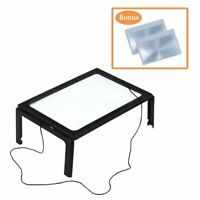 Magpro 3X Handsfree Full Page Magnifying Sheet magnifier with 4 LED light