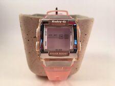 Baby G Watch~Casio Pink Watch~Digital~Shock Resistant~Square~Women's~BG 184
