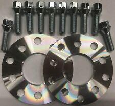 M14X1.5 blocca bulloni per AUDI 66.6 RUOTA in lega Distanziatori BIMECC 10mm Argento x 4