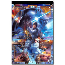 "Star Wars 7 Classic Movie Silk Fabric Poster 13x20 24x36"" ST055"