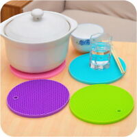 Silicone Heat Insulation Placemat Bowl Mat Plate BJ Coaster Round Pad Cup Table#
